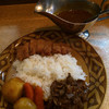 ビーフカレー専門店  辛樹 - 料理写真:特製ビーフ・カツ入り1,080円 辛口、ご飯300g