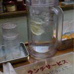こい家 - お水にレモン入りは嬉しい