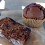 ユニコーンベーカリー - アップルケーキとチョコ ラズベリー マフィン
