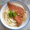 讃岐製麺所 - 料理写真:うどん細めのかけそのまま+お揚げ