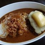 洋食屋チーフ - スパイシーハンバーグカレー+チーズ(960円)