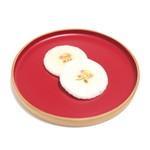 萬御菓子誂處 樫舎 - 干菓子:小種 2枚入 (129円) '15 1月上旬