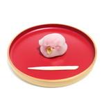 萬御菓子誂處 樫舎 - 姫椿 (324円) '15 1月上旬