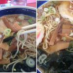 中華 きりん - メンマの量が多い(左の写真で食べてもまだあるメンマ右写真)