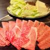 馬庵このみ - 料理写真:黒毛和牛しゃぶしゃぶ (野菜付き、薬味なし) (上)1900円×2人前