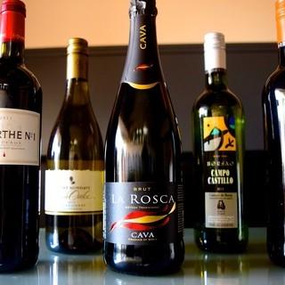 世界各国のワインを用意!!
