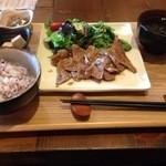 35130781 - 黒糖生姜焼きランチ