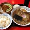 福富 - 料理写真:ラーメン  ライス付き350円+アジフライ150円