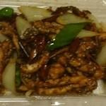 四川麻辣湯 - 料理写真:烏賊の特別香味炒め 激辛青赤唐辛子、山椒で本場の味