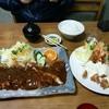 たつ - 料理写真:ジャンボかつ定食1700円、エビフライ定食1500円