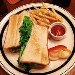 35171619 - クリームチーズ&サーモンのホットサンド