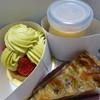 Soin  - 料理写真:バナナのタルトとピスタチオのタルトそれにプリンを。