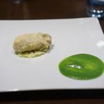 CILQ  - 門司牡蠣のベニエを菜花のポタージュで