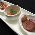 チャイナシャドー - 前菜三種盛り合わせ