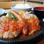 レストラン 味禄 - ミックスグリル定食