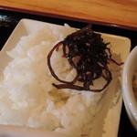 やんさ - 小鉢3:ごはんと昆布の佃煮