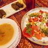 トルコレストラン Ancyra - 料理写真:羊飼いサラダとスープとブドウの葉巻ピラフ