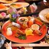 お宿いけがみ - 料理写真:見て愉しんでいただける色鮮やかな器