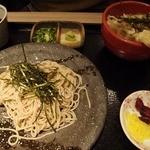 花ごよみ - ざるそばのミニ天丼セット(1100円)