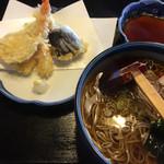 軽井沢ガーデン - 料理写真:天婦羅と蕎麦が別盛りの天婦羅蕎麦
