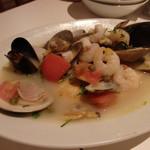 小皿イタリアン バロンドール - 旬魚のアクアパッツァ(1,280円)(2014/8)