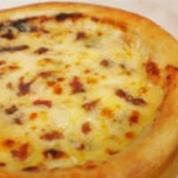 ブルーチーズandアンチョビのピザ