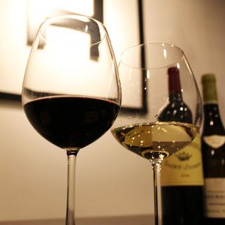 ワインメニュー豊富!グラスワインも全10種類以上!!