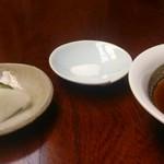 天ぷら懐石 いせ - つけもの 塩 つゆ