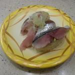 回転寿司 すし松 - 光り物三貫