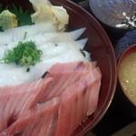 寿し茶屋海旬亭 - 二色丼(トロ鉄火丼+エンガワ)