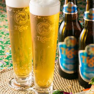 ◆生のタイガービールで乾杯!!!