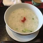 薬膳 天地・礼心 東方人康食養館 - 『大根粥』様(600円)・気の巡りを促し、胃腸の働きをよくする。