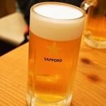酒饌亭 灘菊 - 生ビール