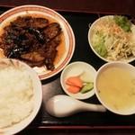 四五六菜館 - ナスの味噌炒め定食