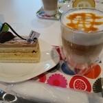 35424586 - マロンのケーキ♪ハニーカフェオレと
