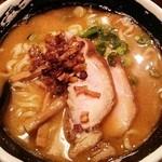 麺場 浜虎 - 鯖煮干し味噌そば(800円)