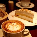 カフェ・カトル・ヴァン・ヌフ - 冬、スノーマンを描いてくださいました