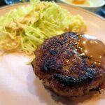 ひだまり亭 - 日替わり定食の自家製ハンバーグステーキ、ワンコインとは思えない美味しさ!