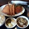 はまる - 料理写真:アジフライとコロッケ定食