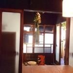 うろん江口 - 古い町家の店内