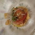 35460847 - 真鯛とトマト、アボカドのカルパッチョ風?