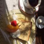 きままなターシャ - ☆デザートset本日のシフォンケーキはバナナ☆