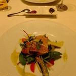 チャイニーズ 芹菜 - 2月のおすすめコース:炙った寒鰤のサラダ 林檎山葵ソース