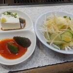 板門店 - 大根サラダ、豆腐に胡瓜キムチ:2015/3