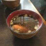 鮨和 - 味噌汁(海老頭の出汁)