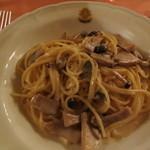 リストランテ・サバティーニ - 2012年11月 プリミ・ピアッティー 三種のキノコのクリームソースで和えたスパゲッティ