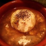 スタンド 末広 - フルーツ玉ねぎとレンズ豆のじっくり煮