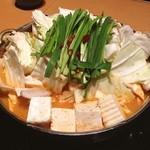 まさゆめ - もつ鍋☆ 辛味噌のスープで頂きました♪