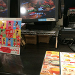 バーガーキング - 店内のレジカウンター