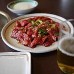 ゑんや - 料理写真:特盛カルビ&ビール~☆
